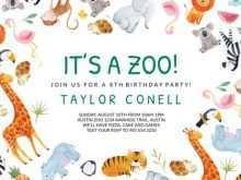 43 Free Printable Zoo Birthday Party Invitation Template Photo with Zoo Birthday Party Invitation Template