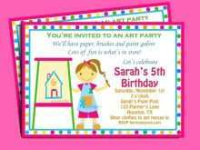 43 Printable Art Party Invitation Template Free in Word for Art Party Invitation Template Free