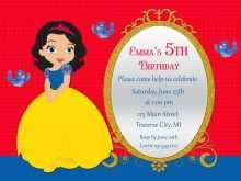 43 Printable Birthday Invitation Template Snow White For Free for Birthday Invitation Template Snow White