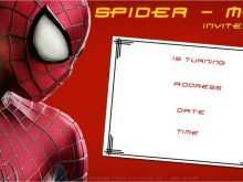 43 Printable Birthday Invitation Template Spiderman With Stunning Design for Birthday Invitation Template Spiderman