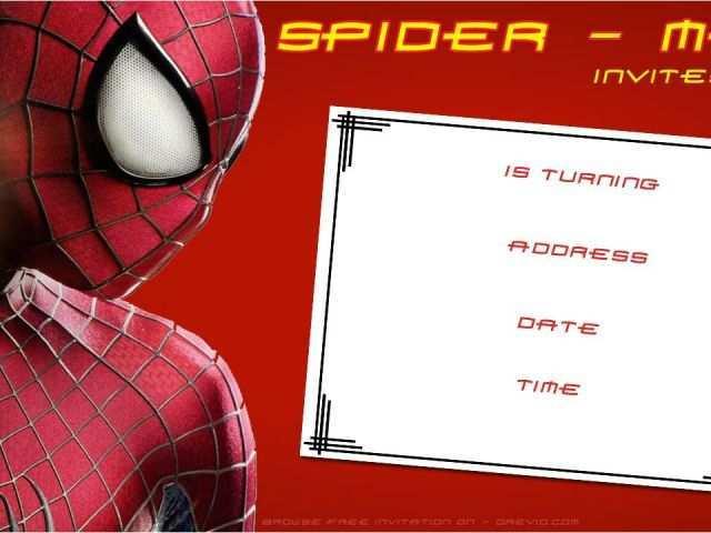 43 Printable Birthday Invitation Template Spiderman With Stunning Design for Birthday Invitation Template Spiderman