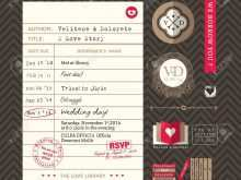 43 The Best Library Card Wedding Invitation Template in Word for Library Card Wedding Invitation Template