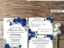 43 The Best Royal Blue Wedding Invitation Template Layouts by Royal Blue Wedding Invitation Template