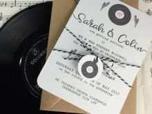 43 The Best Vinyl Record Wedding Invitation Template For Free for Vinyl Record Wedding Invitation Template