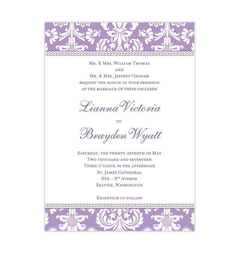 43 The Best Wedding Invitation Templates Violet in Photoshop with Wedding Invitation Templates Violet