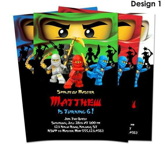 44 Best Ninjago Party Invitation Template in Word by Ninjago Party Invitation Template