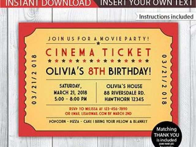 44 Create Blank Movie Ticket Invitation Template in Photoshop for Blank Movie Ticket Invitation Template