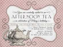 44 Customize Our Free Afternoon Tea Party Invitation Template for Ms Word for Afternoon Tea Party Invitation Template