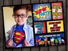 44 Format Justice League Birthday Invitation Template Layouts with Justice League Birthday Invitation Template
