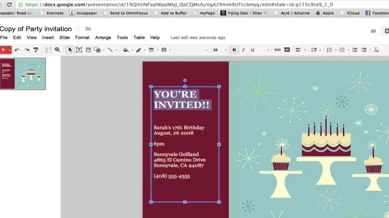 5 Free Birthday Party Invitation Template Google Docs With