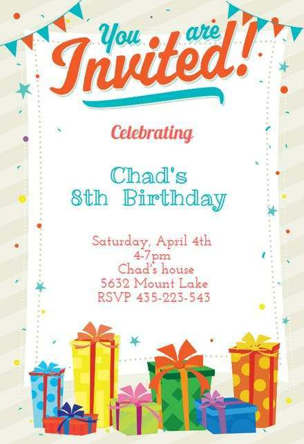 44 Free Printable Birthday Invitation Template Free in Photoshop with Birthday Invitation Template Free