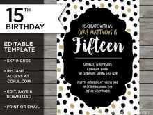 44 Standard Editable Birthday Invitation Template For Free by Editable Birthday Invitation Template