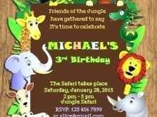 45 Adding Birthday Invitation Template Jungle Theme for Ms Word with Birthday Invitation Template Jungle Theme