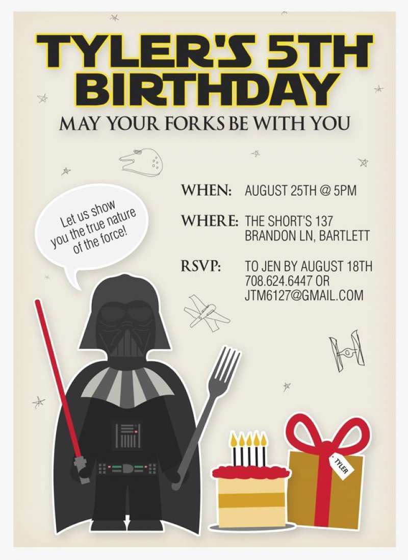 45 Adding Birthday Invitation Template Star Wars With Stunning Design with Birthday Invitation Template Star Wars