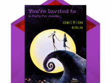 Jack And Sally Wedding Invitation Template