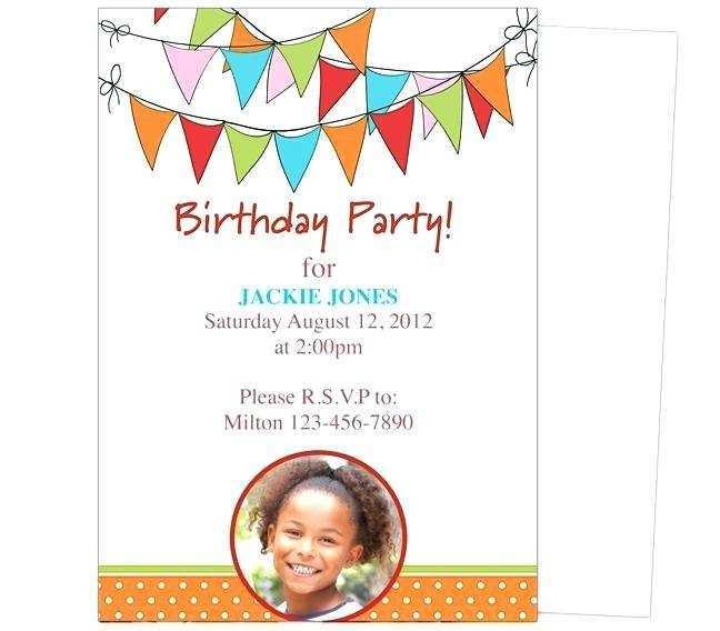 45 Creative Birthday Invitation Template For Word For Free by Birthday Invitation Template For Word