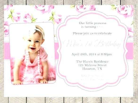 45 Customize Our Free Birthday Invitation Template For Baby Girl Formating with Birthday Invitation Template For Baby Girl