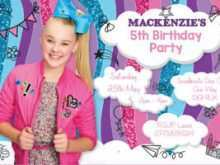 45 Customize Our Free Jojo Siwa Party Invitation Template With Stunning Design for Jojo Siwa Party Invitation Template