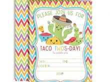 45 Format Taco Party Invitation Template With Stunning Design for Taco Party Invitation Template