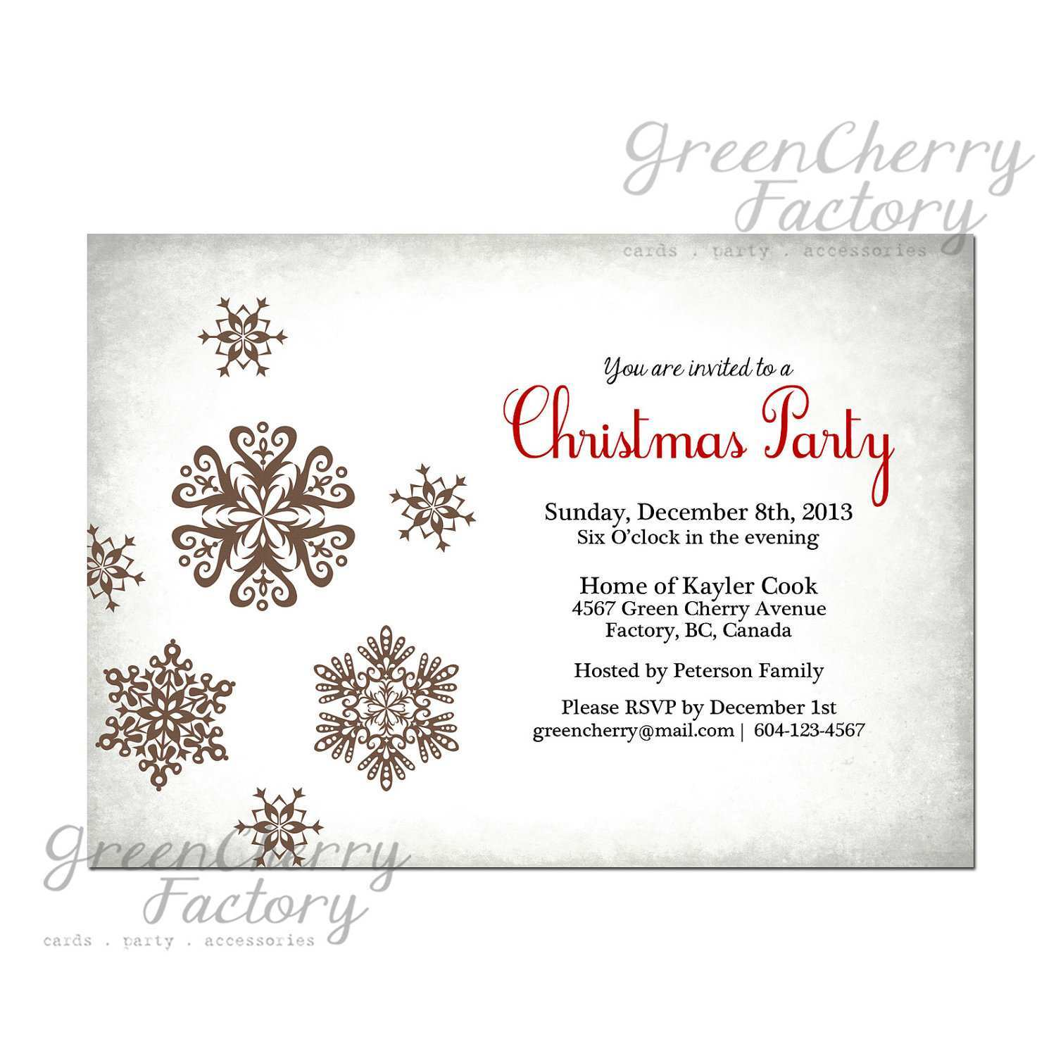 25 How To Create Free Christmas Party Invitation Templates Uk for Intended For Free Christmas Invitation Templates For Word