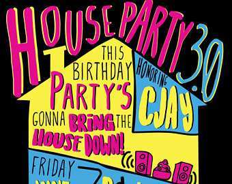 45 How To Create House Party Invitation Template Formating by House Party Invitation Template