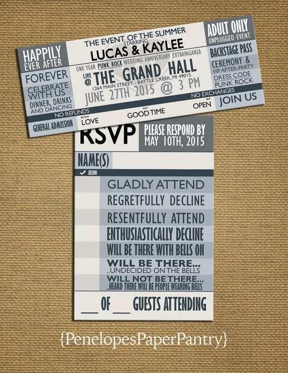 45 Report Concert Ticket Wedding Invitation Template Formating by Concert Ticket Wedding Invitation Template