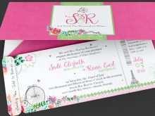 46 Create Boarding Pass Wedding Invitation Template Formating for Boarding Pass Wedding Invitation Template