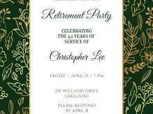 46 Creating Formal Retirement Invitation Template Templates for Formal Retirement Invitation Template