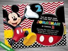 46 Creating Mickey Mouse Blank Invitation Template in Word for Mickey Mouse Blank Invitation Template