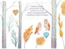 46 Creating Owl Wedding Invitation Template PSD File with Owl Wedding Invitation Template
