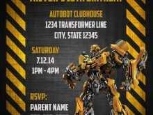 46 Creative Transformers Birthday Invitation Template For Free for Transformers Birthday Invitation Template