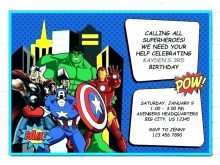46 Customize Captain America Birthday Invitation Template PSD File for Captain America Birthday Invitation Template