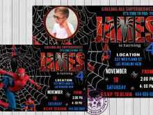 46 Customize Spiderman Party Invitation Template Free for Ms Word with Spiderman Party Invitation Template Free