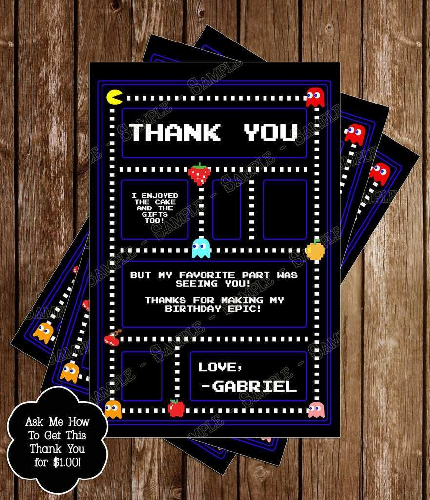 5 Online Pac Man Birthday Invitation Template for Ms Word with