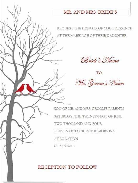 46 Printable Wedding Invitation Template In Word For Free by Wedding Invitation Template In Word