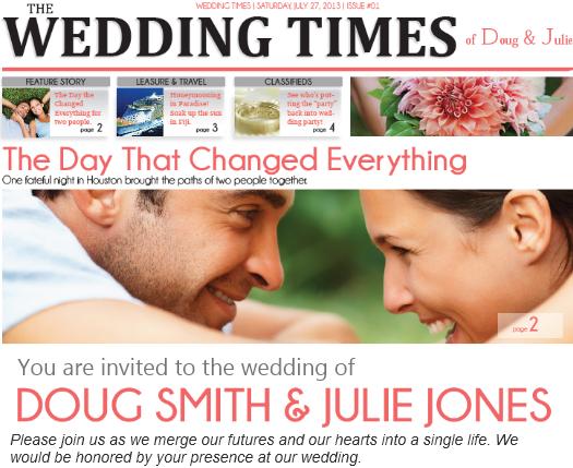 47 Adding Wedding Invitation Newspaper Template Maker by Wedding Invitation Newspaper Template
