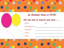 47 Create Birthday Invitation Template Simple PSD File by Birthday Invitation Template Simple