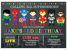 Justice League Birthday Invitation Template