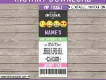 47 Free Emoji Party Invitation Template Layouts for Emoji Party Invitation Template