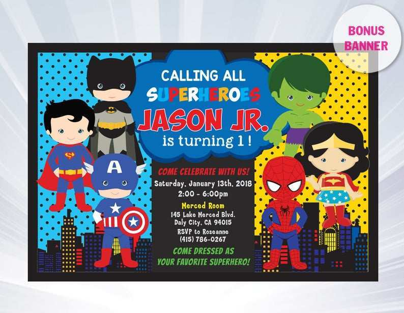 47 Free Printable Justice League Birthday Invitation Template in Photoshop for Justice League Birthday Invitation Template