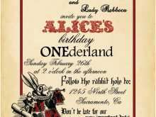 47 Online Alice In Wonderland Wedding Invitation Template Download for Alice In Wonderland Wedding Invitation Template