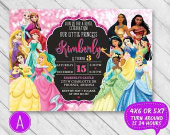 47 Printable Birthday Invitation Template Disney PSD File for Birthday Invitation Template Disney