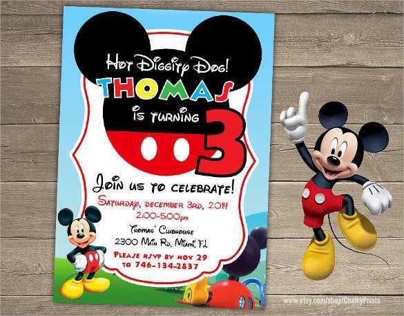 47 Standard Mickey Mouse Blank Invitation Template Maker by Mickey Mouse Blank Invitation Template