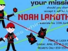 47 Visiting Birthday Invitation Template Laser Tag Maker by Birthday Invitation Template Laser Tag