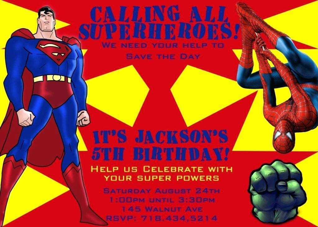 47 Visiting Justice League Birthday Invitation Template With Stunning Design by Justice League Birthday Invitation Template