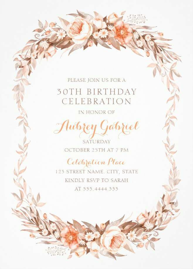 48 Create Elegant Party Invitation Template in Word by Elegant Party Invitation Template