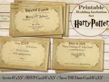 48 Create Harry Potter Wedding Invitation Template in Photoshop by Harry Potter Wedding Invitation Template