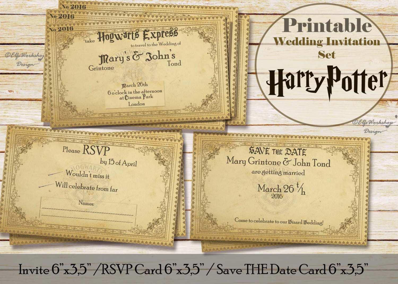 48 Create Harry Potter Wedding Invitation Template in Photoshop by Harry Potter Wedding Invitation Template