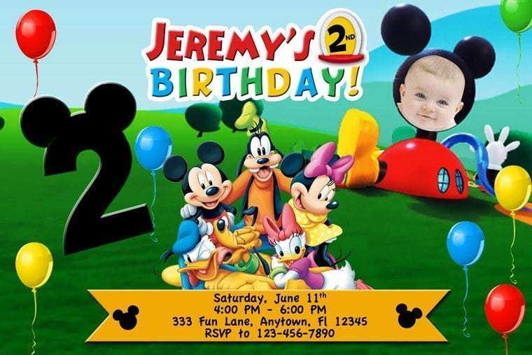Mickey Mouse Clubhouse Invitation Template from legaldbol.com