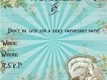 48 Creative Blank Alice In Wonderland Invitation Template For Free with Blank Alice In Wonderland Invitation Template
